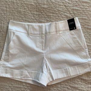 NWT White New York & Company Sateen Shorts